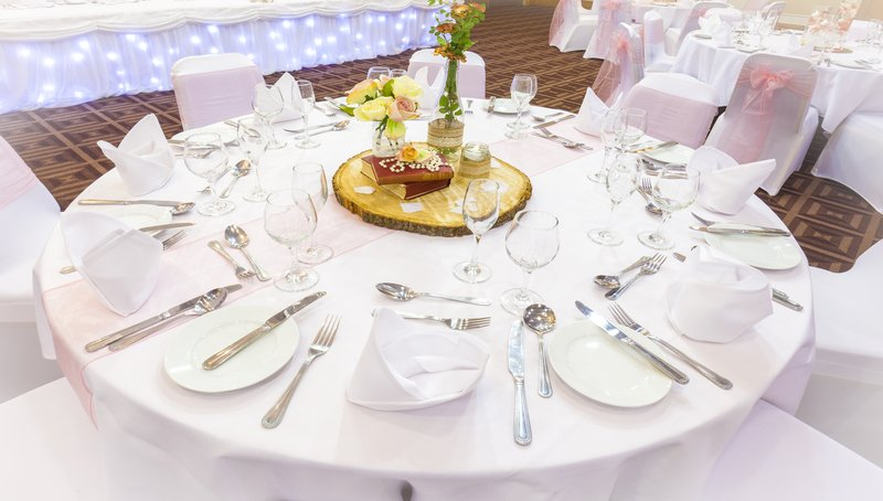 Holiday Inn Newcastle-Jesmond-Set for a wedding breakfast<br/>Image from Leonardo