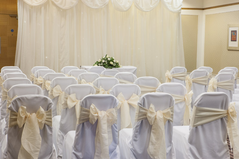 Holiday Inn Newcastle - Gosforth Park-Cheviot Suite set as a civil ceremony room<br/>Image from Leonardo