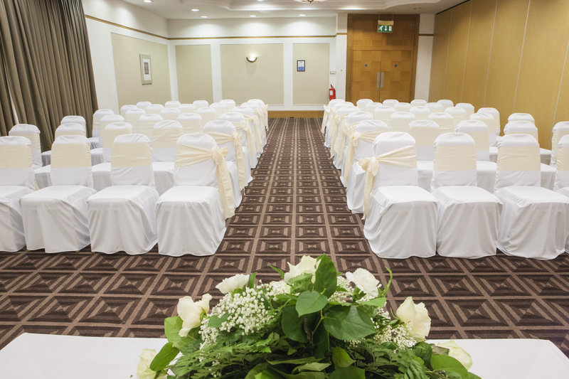Holiday Inn Newcastle-Jesmond-Cheviot Suite set as a civil ceremony room<br/>Image from Leonardo