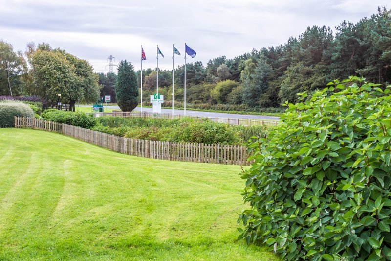 Holiday Inn Newcastle-Jesmond-Pond area where the moor hens live<br/>Image from Leonardo