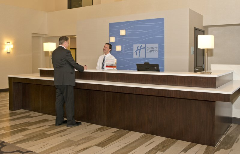 Holiday Inn Express & Suites Colorado Springs Central-Fast and friendly check-in at our Front Desk<br/>Image from Leonardo