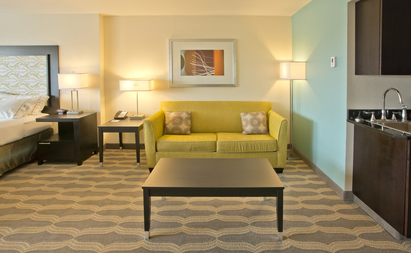 Holiday Inn Express & Suites Colorado Springs Central-A Sleeper Sofa is included in all of our Suite Guest Rooms<br/>Image from Leonardo