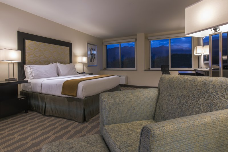 Holiday Inn Express & Suites Colorado Springs Central-King accessible room with a view.<br/>Image from Leonardo