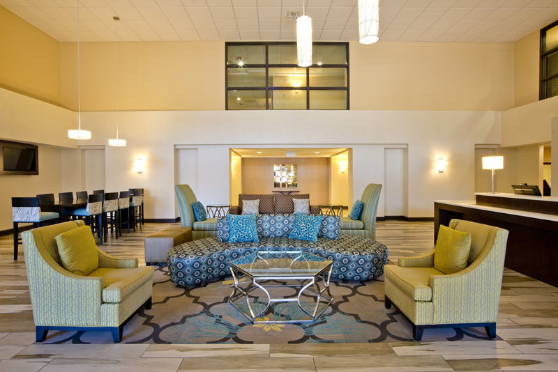 Holiday Inn Express & Suites Colorado Springs Central-Relax in our Lobby Area - Free Internet!<br/>Image from Leonardo