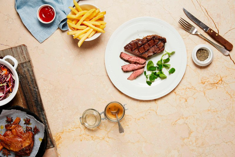 Marriott Cardiff Hotel-Market Kitchen - Steak & Chips<br/>Image from Leonardo