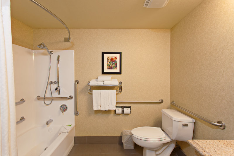 Holiday Inn Express Temecula-ADA/Handicapped accessible Guest Bathroom with mobility tub<br/>Image from Leonardo