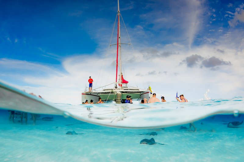 Holiday Inn Resort Grand Cayman-Red Sail Sports-  Catamaran- Stingray City- Grand Cayman<br/>Image from Leonardo