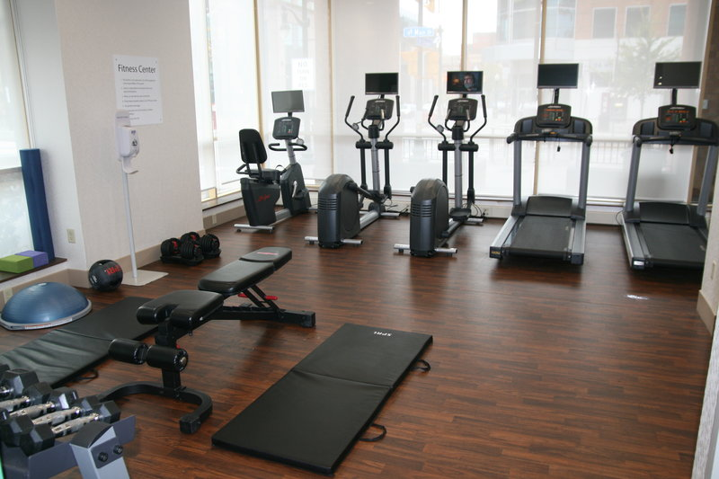 Holiday Inn Express & Suites Buffalo Downtown-Fitness Center with cardio, free weights, bose ball, stretch bands<br/>Image from Leonardo