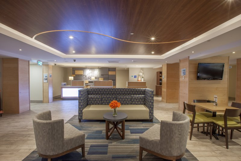 Holiday Inn Express &amp; Suites St. John Harbour Sde-Relax and Enjoy Free WiFi in our Spacious, Newly Designed Lobby<br/>Image from Leonardo