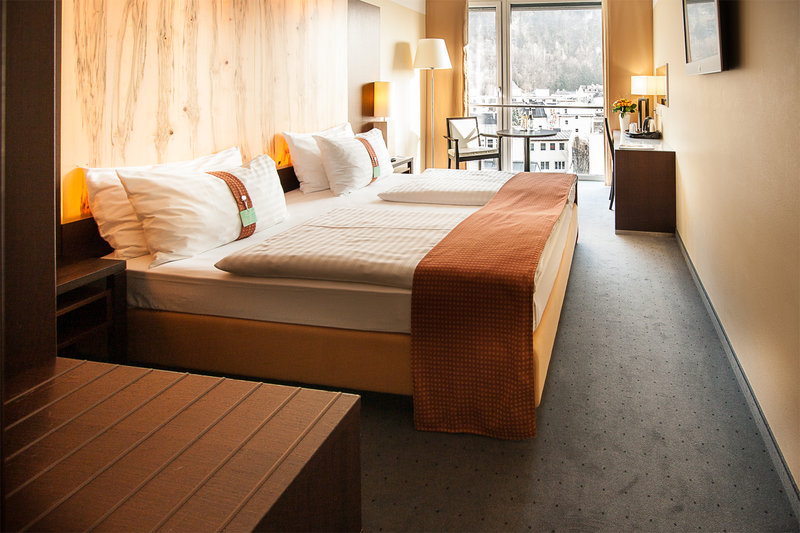 Holiday Inn Salzburg City-Double Bed Guest Room with Panorama Windows.<br/>Image from Leonardo