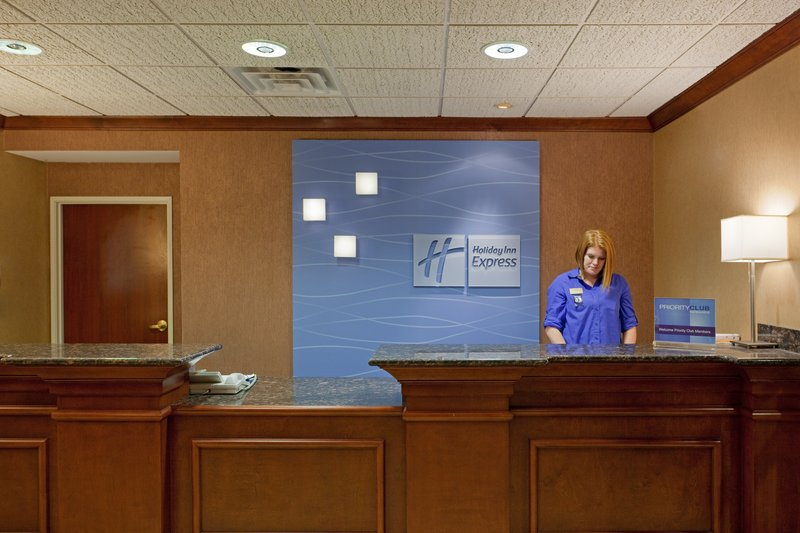 Holiday Inn Express & Suites Manchester Airport-Front desk of the hotel<br/>Image from Leonardo
