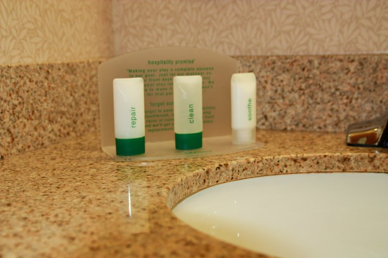 Holiday Inn Express & Suites Manchester Airport-Guest Bathroom<br/>Image from Leonardo