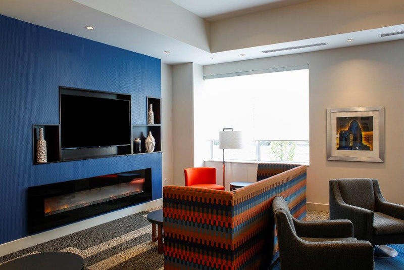 Holiday Inn Express & Suites Louisville Downtown-Relax by the Lobby TV<br/>Image from Leonardo