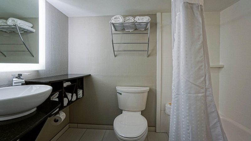 Holiday Inn Manhattan At The Campus-Queen Room Bathrooms<br/>Image from Leonardo