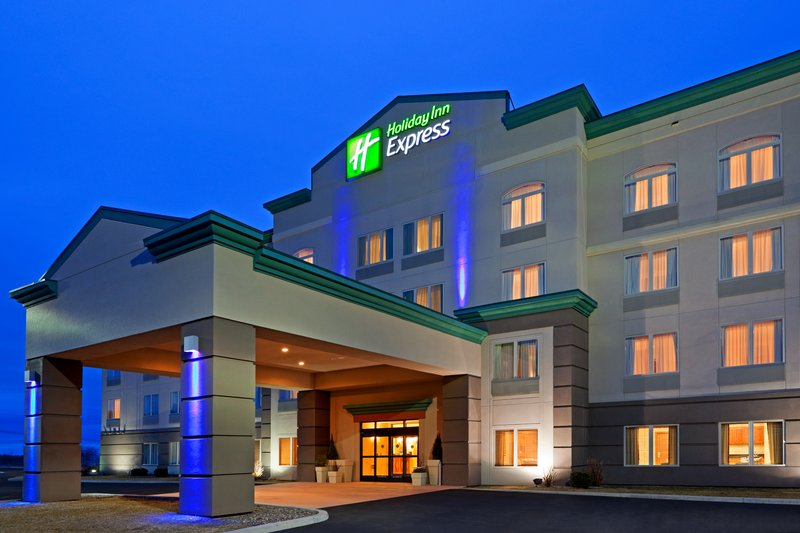 Holiday Inn Express Syracuse-Fairgrounds-Holiday Inn Express 1 mile from exit 39 of NYS Thruway route 90.<br/>Image from Leonardo