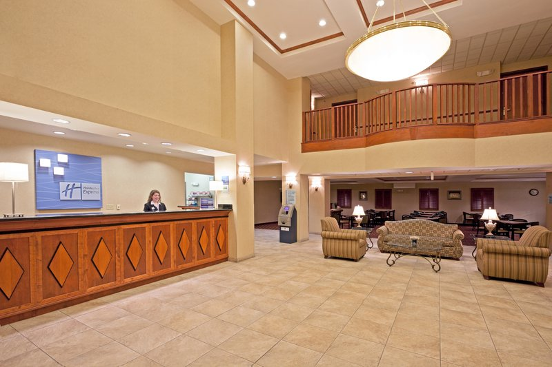 Holiday Inn Express Syracuse-Fairgrounds-Our two story lobby provides the perfect gathering place<br/>Image from Leonardo