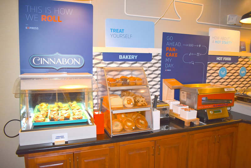 Holiday Inn Express Syracuse-Fairgrounds-Free Breakfast, Fresh Cinnabon Made to order Pancakes<br/>Image from Leonardo