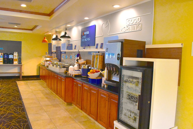 Holiday Inn Express Syracuse-Fairgrounds-New Express Breakfast Buffet 7 days a week<br/>Image from Leonardo