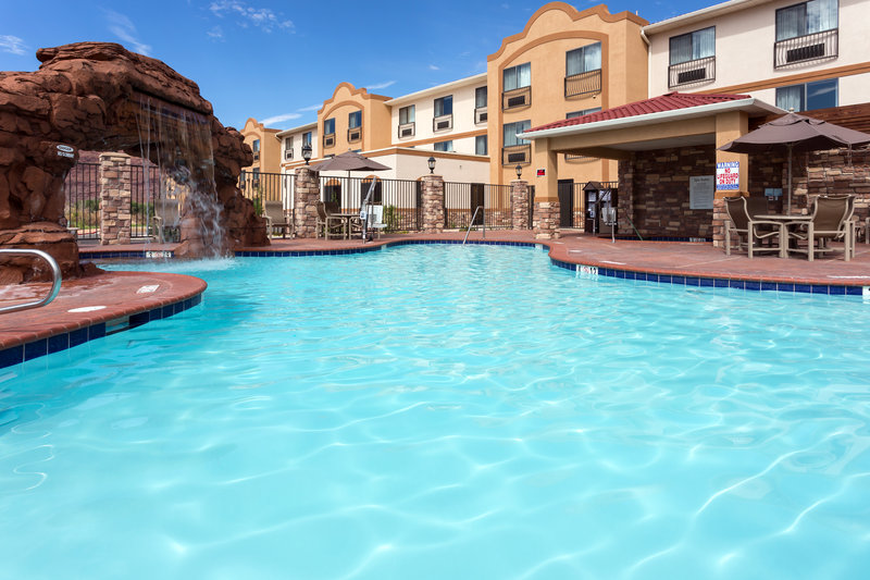 Holiday Inn Express & Suites Moab-Relax by our outdoor pool with water feature<br/>Image from Leonardo