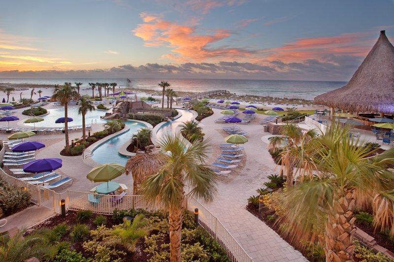 Holiday Inn Resort Pensacola Beach Gulf Front-Holiday Inn Resort Pensacola's Lazy River Pool and Gulf View<br/>Image from Leonardo