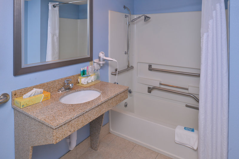 Holiday Inn Express Omaha West - 90th Street-Guest Bathroom<br/>Image from Leonardo