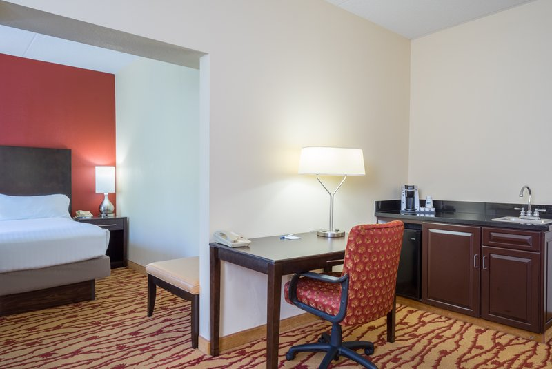 Holiday Inn Express Hanover-Spacious desk, coffee & refrigerator helping you to be productive.<br/>Image from Leonardo