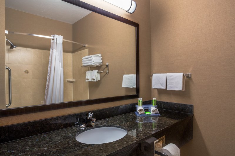Holiday Inn Express & Suites Moab-Guest Bathroom<br/>Image from Leonardo