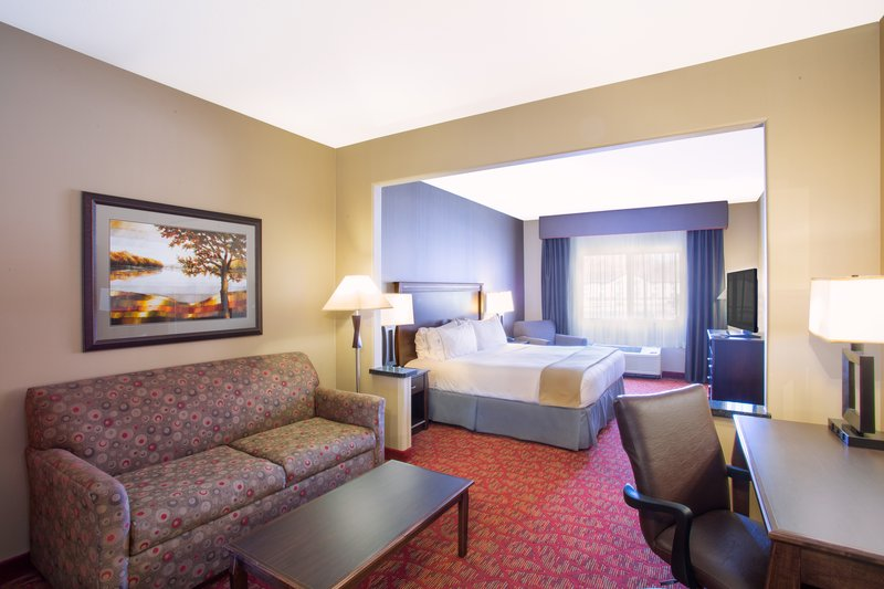 Holiday Inn Express & Suites Moab-King Suite with full size sofa sleeper and kitchenette<br/>Image from Leonardo