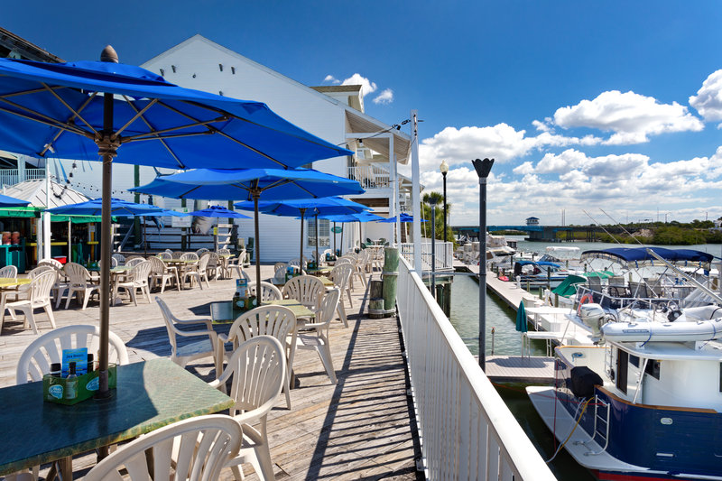 Holiday Inn & Suites Clearwater Beach S Harbour-Dolphin sightings are complimentary ask for a table on the water. <br/>Image from Leonardo