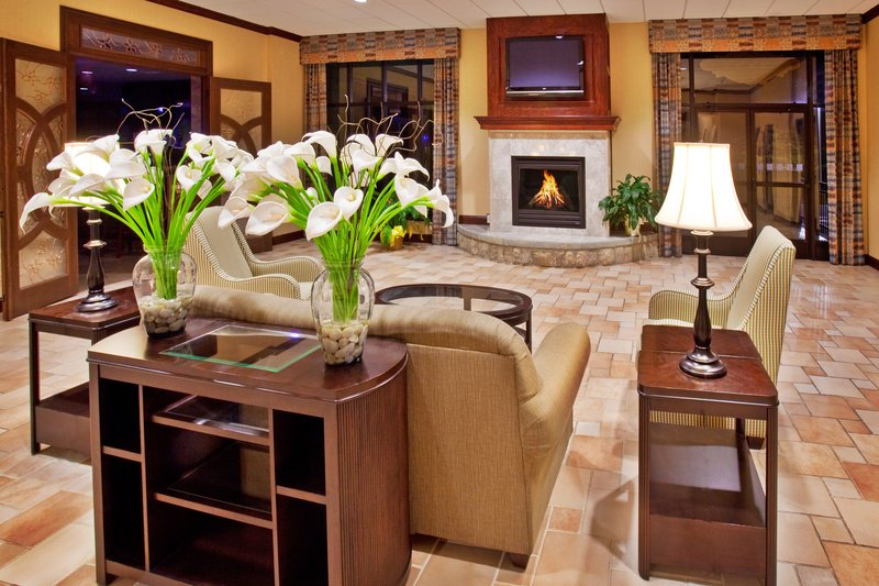 Holiday Inn Quincy East-Our hotel lobby and Tony's Too for meals or catered banquets<br/>Image from Leonardo