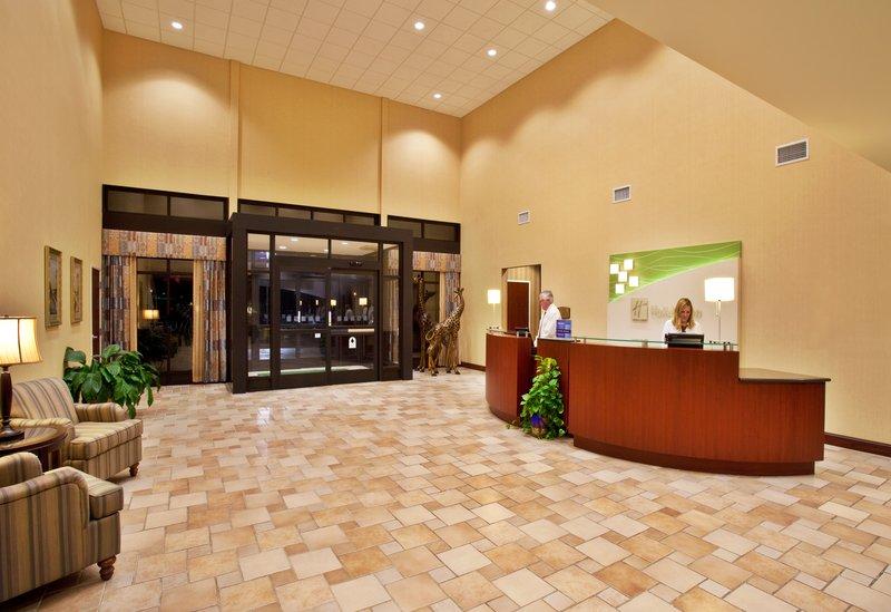 Holiday Inn Quincy East-Spacious hotel lobby.<br/>Image from Leonardo