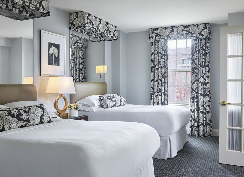 Eliot Apartment Suites-One Bedroom Suite with two double beds<br/>Image from Leonardo