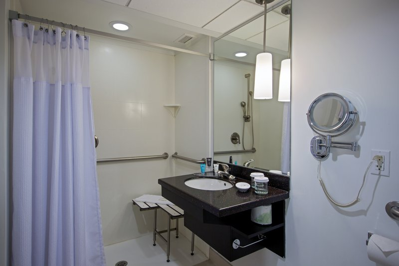 Crowne Plaza Suffern-Mahwah-ADA Handicap Accessible Bathroom<br/>Image from Leonardo
