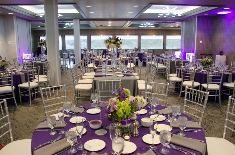 Holiday Inn Milwaukee Riverfront-Grand Estabrook Ballroom Purple and Silver<br/>Image from Leonardo