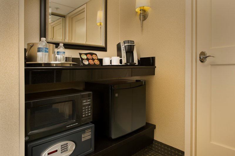 Crowne Plaza Portland-Downtown Conv Ctr-In-Room Amenities, Microwave, Refrigerator, Safe and Keurig Coffee<br/>Image from Leonardo
