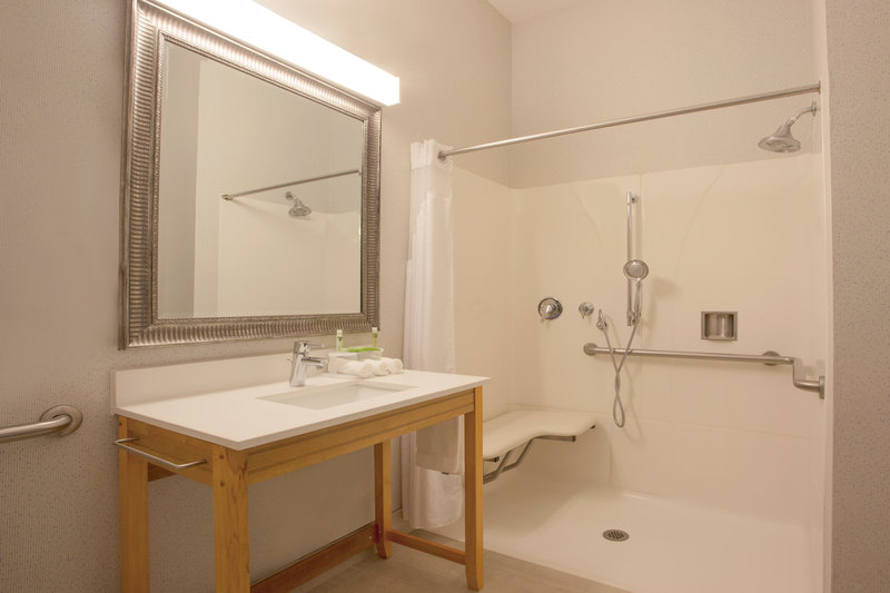 Holiday Inn Express & Suites Davis-University Area-ADA/Handicapped accessible Guest Bathroom with roll-in shower<br/>Image from Leonardo