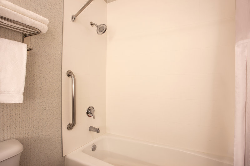 Holiday Inn Express & Suites Davis-University Area-ADA/Handicapped accessible Guest Bathroom with mobility tub<br/>Image from Leonardo