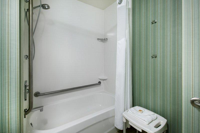 Holiday Inn Saskatoon Downtown-Wheelchair accessible Guest Bathroom with mobility tub<br/>Image from Leonardo