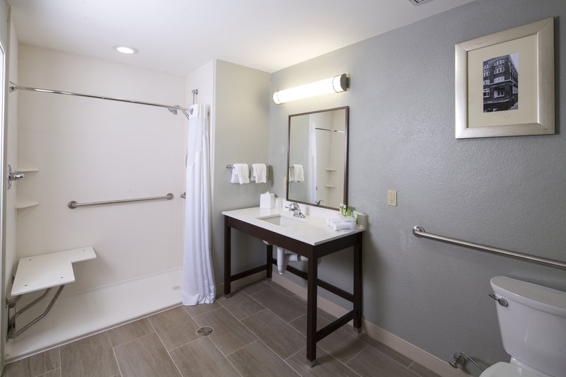 Holiday Inn Express & Suites Oklahoma City Downtown-Guest Bathroom Accessible<br/>Image from Leonardo