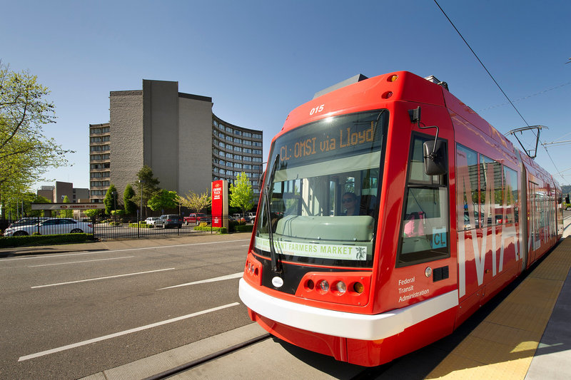 Crowne Plaza Portland-Downtown Conv Ctr-Exterior on Portland Streetcar<br/>Image from Leonardo