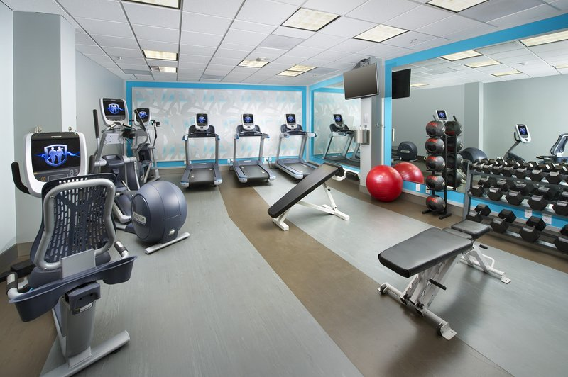 Crowne Plaza Portland-Downtown Conv Ctr-Browse social media from our brand new high-tech fitness center.<br/>Image from Leonardo
