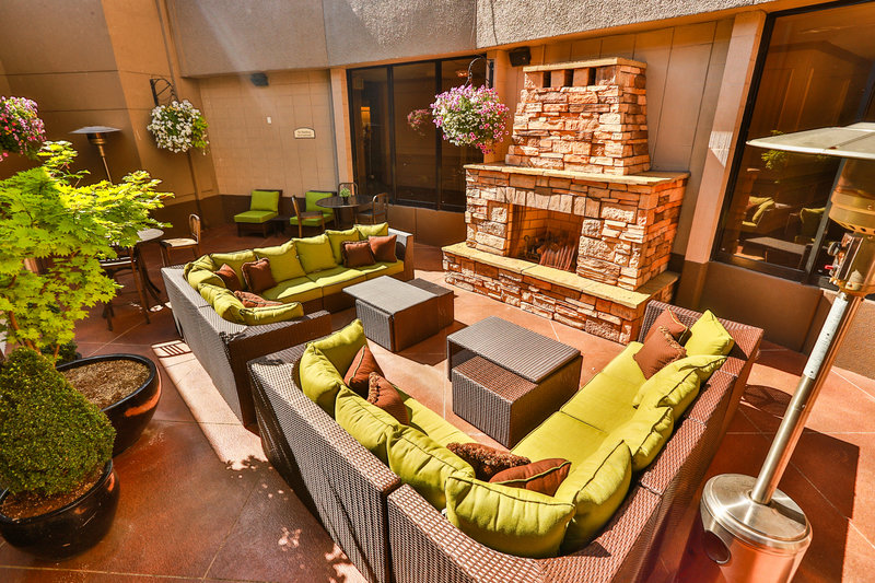 Crowne Plaza Portland-Downtown Conv Ctr-The outdoor Fireside Plaza - also available for private events<br/>Image from Leonardo