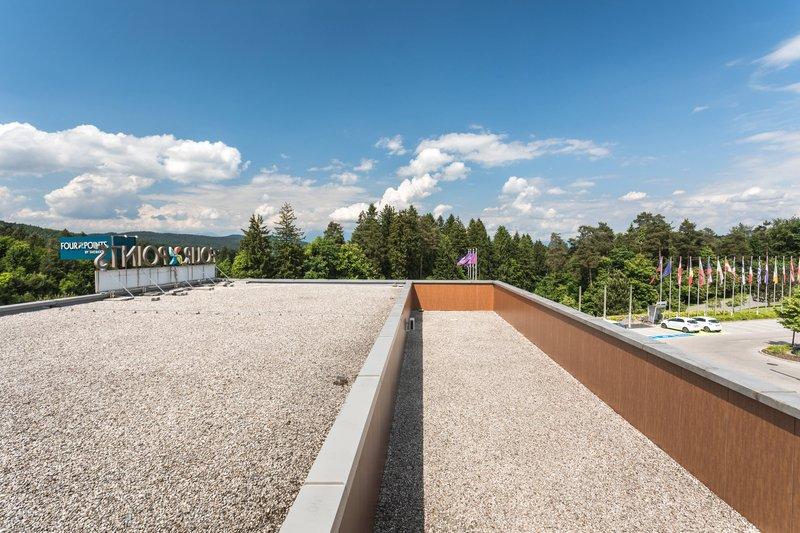 Four Points by Sheraton Ljubljana Mons-Partial Courtyard View<br/>Image from Leonardo