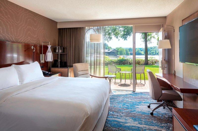 Boston Marriott Newton-Guest Room - Patio<br/>Image from Leonardo