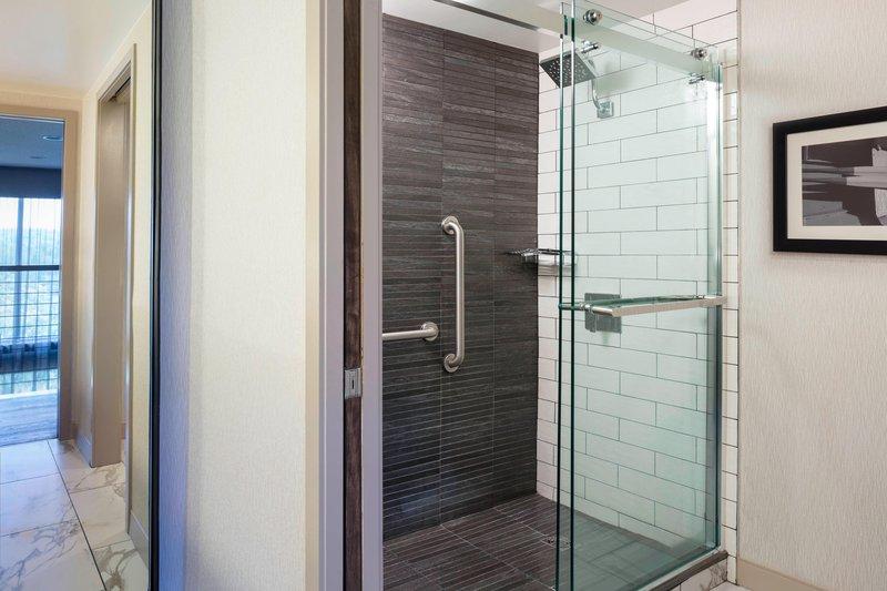 Boston Marriott Newton-Suite Bathroom - Shower<br/>Image from Leonardo