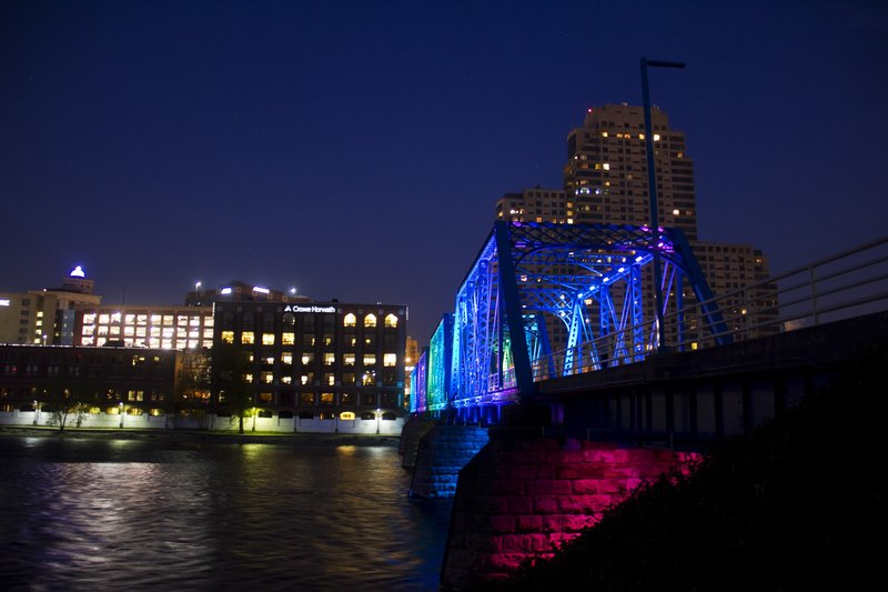Holiday Inn Grand Rapids Downtown-Our historic Blue Bridge is a short walk from the hotel.<br/>Image from Leonardo