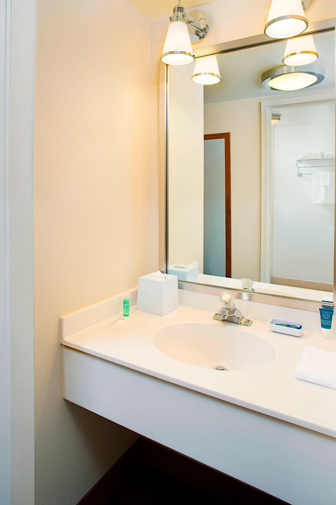 Four Points Philadelphia Airport-Guest Bathroom- Vanity<br/>Image from Leonardo