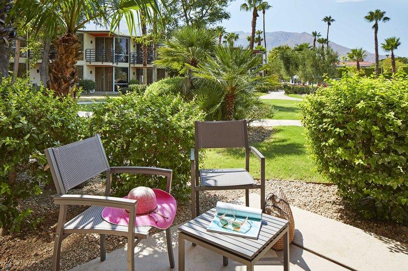 Riviera Palm Springs-Patio - Garden View<br/>Image from Leonardo