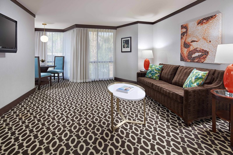 Riviera Palm Springs-One-Bedroom Deluxe King Suite - Living Area<br/>Image from Leonardo