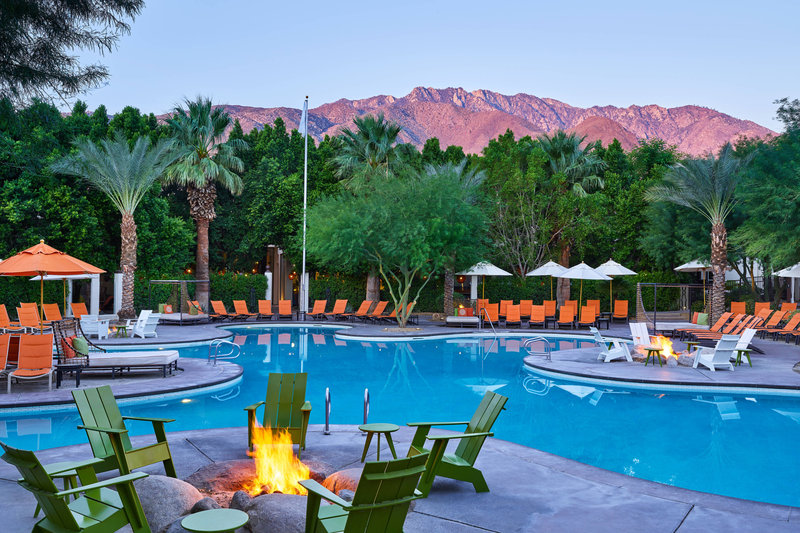 Riviera Palm Springs-Outdoor Pool Fire Pits<br/>Image from Leonardo